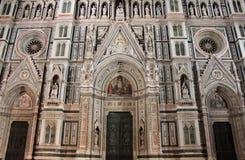 Florencja katedra nocą Zdjęcie Royalty Free