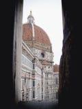 Florencja katedra od okno Zdjęcie Royalty Free