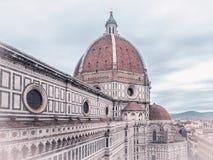Florencja katedra w chmurach Fotografia Stock