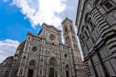 Florencja katedra w perspektywie Zdjęcia Stock