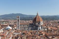 Florencja katedra w słonecznym dniu, Tuscany, Włochy Zdjęcie Stock