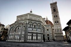 Florencja Katedralna bazylika Di Santa Maria Del Fiore, Dzwonnica Di Giotto, Cupola Del Brunelleschi XI. zdjęcia stock