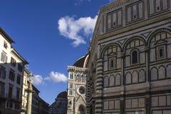 Florencja katedry i Baptistery ` s cupola Fotografia Stock