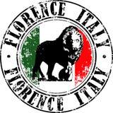 Florencja lwa znaczek Obrazy Stock