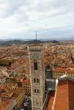 Florencja miasta linia horyzontu Zdjęcia Stock