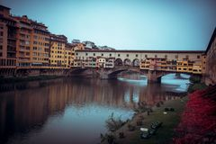 Florencja miasteczka rzeka zdjęcia royalty free