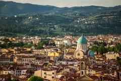 Florencja miasto podczas zmierzchu fotografia royalty free