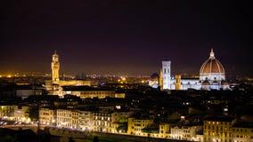Florencja nocą Zdjęcia Stock
