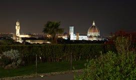 Florencja nocą od above Zdjęcie Royalty Free
