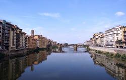 Florencja od Ponte Vecchio zdjęcia royalty free