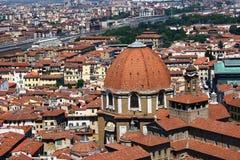 Florencja od wysokości fotografia royalty free