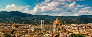 Florencja panoramiczna fotografia Obraz Stock
