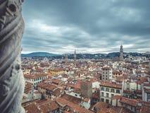 Florencja pejzażu miejskiego chmurny dzień Zdjęcie Stock