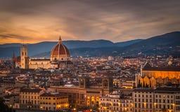 Florencja pejzaż miejski Zdjęcie Stock