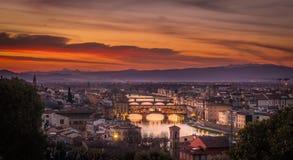Florencja pejzaż miejski Obraz Stock