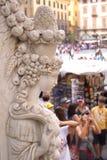 Florencja piękna statua, Florencja, Włochy obrazy royalty free