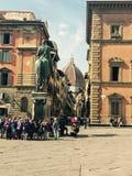 Florencja piazza Zdjęcie Royalty Free