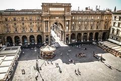 Florencja republiki kwadrat Obrazy Royalty Free