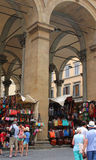 Florencja rynku sprzedawania skóry towary Zdjęcie Royalty Free