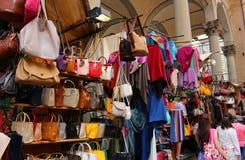 Florencja rynku sprzedawania skóry towary Fotografia Royalty Free
