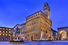 Florencja Vecchio kwadrata świt Obrazy Stock