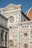 Florencja, Włochy - 22 Kwiecień, 2018: fasada Cattedrale Di Santa Maria del Fiore katedra święty Mary kwiat Zdjęcie Stock