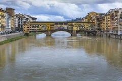 FLORENCJA, WŁOCHY - 07 MARZEC, 2016: Ponte Vecchio, Florencja, Włochy Fotografia Royalty Free