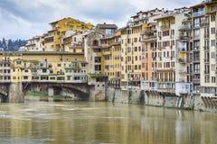 FLORENCJA, WŁOCHY - 07 MARZEC, 2016: Ponte Vecchio, Florencja, Włochy Obrazy Royalty Free