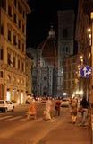 Florencja Włochy przy nocą obraz royalty free
