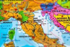 Florencja Włochy mapa Zdjęcia Stock