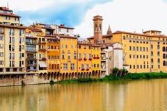 Florencja, Włochy, miastowy widok blisko rzeki Obraz Royalty Free