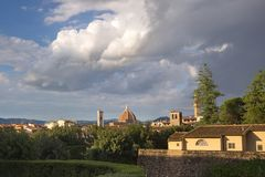 Florencja, widok od Pitti pałac, Włochy, Europa zdjęcia stock