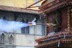 Florencja wybuch fura na wielkanocy Fotografia Stock