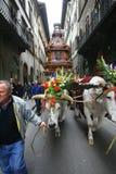 Florencja wybuch furgon na Wielkanocnym dniu Obrazy Royalty Free