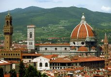 Florencja, z Renesansowymi punkt zwrotny Włochy linia horyzontu Zdjęcie Royalty Free