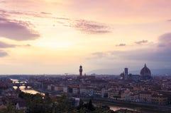 Florencja zmierzch Zdjęcie Royalty Free