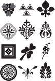 12 Florenelemente für Ihr Design Stockbild