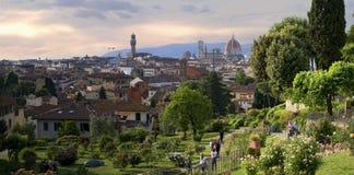 Florentijnse tuin van rozen Gardino delle nam toe Stock Foto's