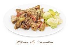 florentine ύφος μπριζόλας fiorentina bistecca alla Στοκ εικόνα με δικαίωμα ελεύθερης χρήσης