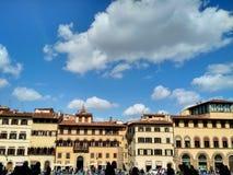 Florentine arkitektur, Oltrarno, Florence royaltyfria bilder