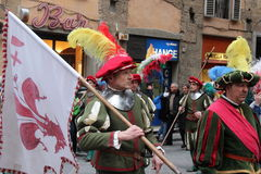 Florentine medieval parade Royalty Free Stock Photo