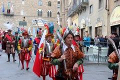 Florentine medieval parade Stock Image