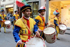 Florentine medieval parade Royalty Free Stock Images