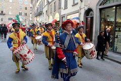 Florentine medieval parade Stock Photo