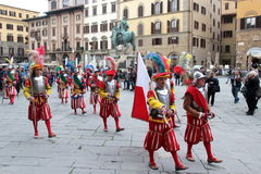 Florentine medieval parade Royalty Free Stock Photography