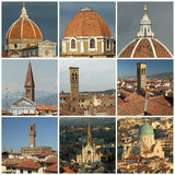 Florentine roofs collage Royalty Free Stock Photos