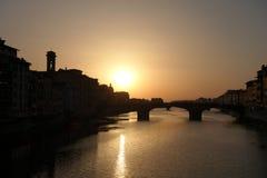 Florenz-Abend lizenzfreie stockfotos
