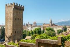 Florenz Alter mittelalterlicher Kontrollturm Lizenzfreie Stockfotografie