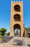 Florenz Alter mittelalterlicher Kontrollturm Stockbild