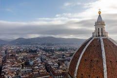 Florenz-Ansicht vom Glockenturm stockbild